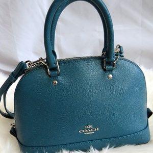 Coach mini Sierra Satchel Glitter Xgrain Leather